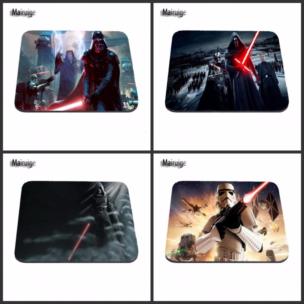 Mairuige Top Game Mouse Pad Print Darth Vader Star Wars Gaming Desk Mat Printing Gaming Mousepad Personalized Durable Mouse Pads
