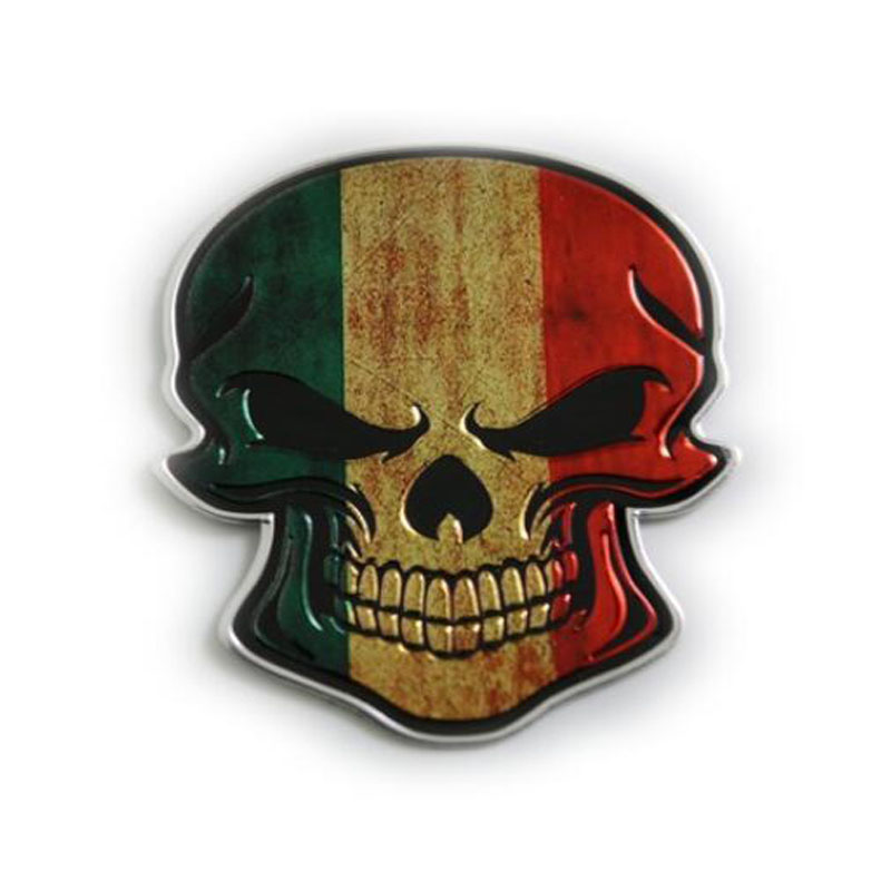 CDCOTN 2PCS 3D Car Stickers Metal Skull Doodle DIY Personality Car Body Sticker Car Interior Decoration Accessories Styling in Car Stickers from Automobiles Motorcycles