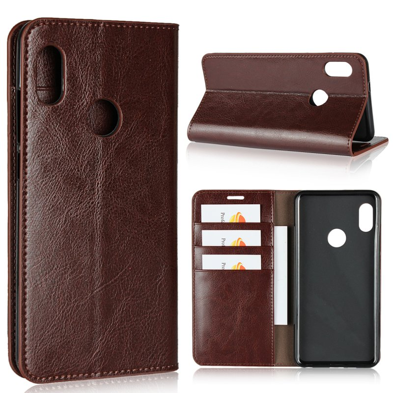 Genuine Leather Case For Xiaomi Mi A2 Luxury Business