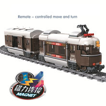 New Train Series Swiss Classic Train Puzzle Assembling Model Building Blocks Kit Toys Kids Christmas Gifts(China)