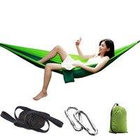 1 Person Parachute Hammock Portable Survival Hammocks Travel Hamaca Hamak Nylon Outdoor Garden Hamak Camping Hamac