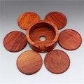 Вьетнамский цвета Красного дерева коврик для чая Бирма груша деревянная большая твердая деревянная подставка для еды круглая чаша коврик д...