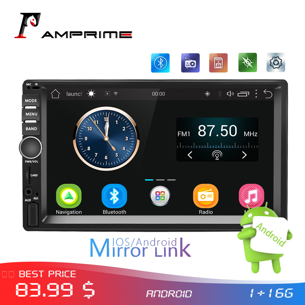 AMPrime  Android 2 din Car Radio GPS WIFI Car Stereo Radio  7 Touch Screen 2din MP5 Player Car Multimedia Player AutoradioAMPrime  Android 2 din Car Radio GPS WIFI Car Stereo Radio  7 Touch Screen 2din MP5 Player Car Multimedia Player Autoradio