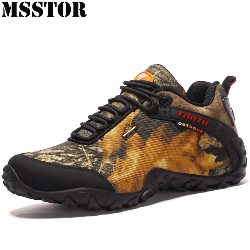 62d13989b3f9c MSSTOR 2019 Hiking Shoes For Men Hunting Trekking Outdoor Tactical Sneakers Hunting  Trekking Waterproof Camping Sport