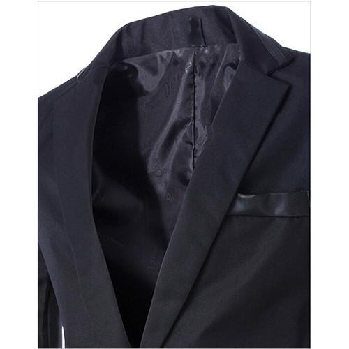 свободного покроя мужские ППШ лепесток вяжется продувки одна мужчины Blazer, бизнес пак свадьба для мужчины м-3XL