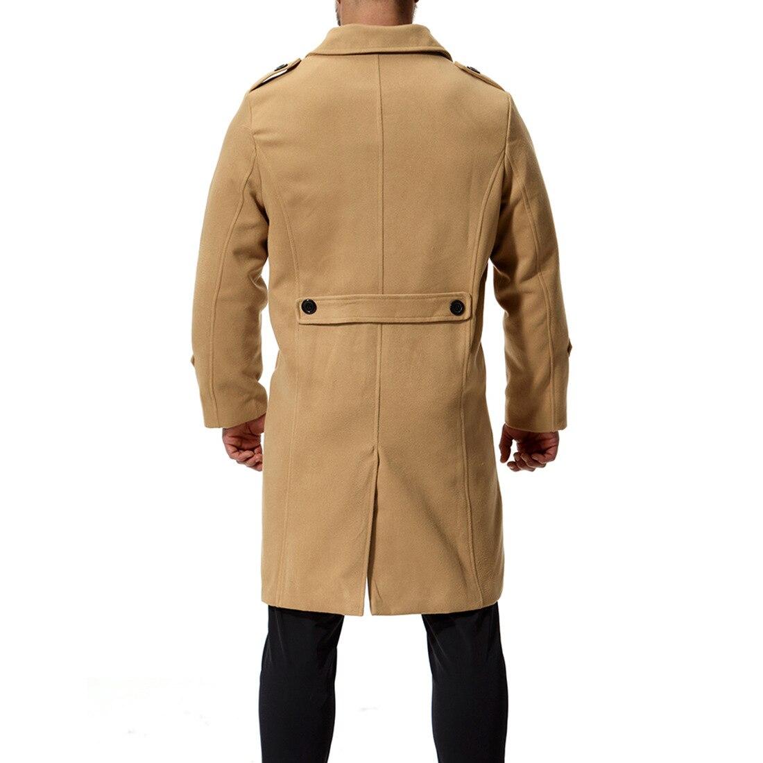 Collar Poitrine Manteau Turn Blousons Noir Tranchée Unique Nz687 Homme Veste Automne down ardoisé kaki Hommes Long Casual y08vNwOmn