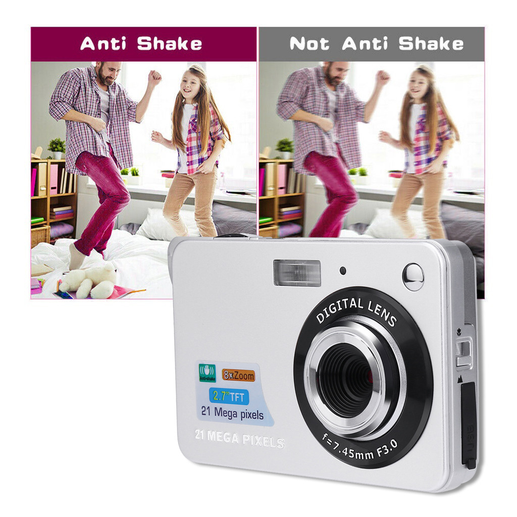HTB1CCAbOjTpK1RjSZKPq6y3UpXaG 2019 2.7HD Screen Digital Camera 21MP Anti-Shake Face Detection Camcorder Black white   28#