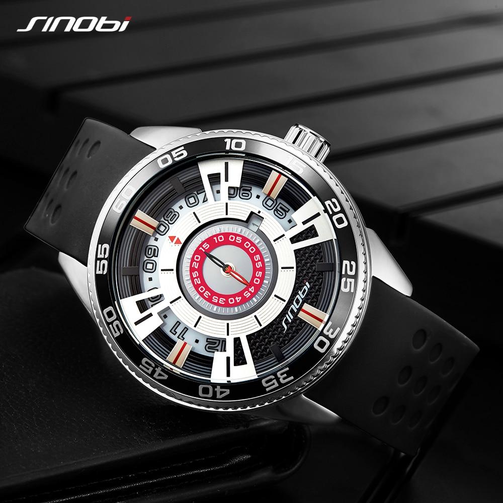 นาฬิกาควอตซ์สร้างสรรค์ความเร็วสีดำนาฬิกาข้อมือแฟชั่นสายยางสแตนเลสสตีล relogio masculino-ใน นาฬิกาควอตซ์ จาก นาฬิกาข้อมือ บน   1