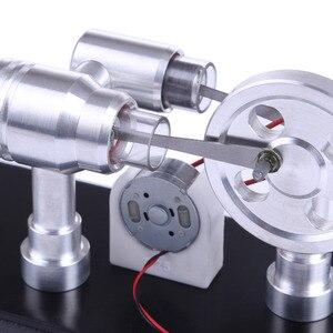 Image 5 - Doppel zylinder Micro DIY Stirling Motor Externe Verbrennung Motor Schule Demonstration Frühen Lernen Bildung Spielzeug Für Kinder