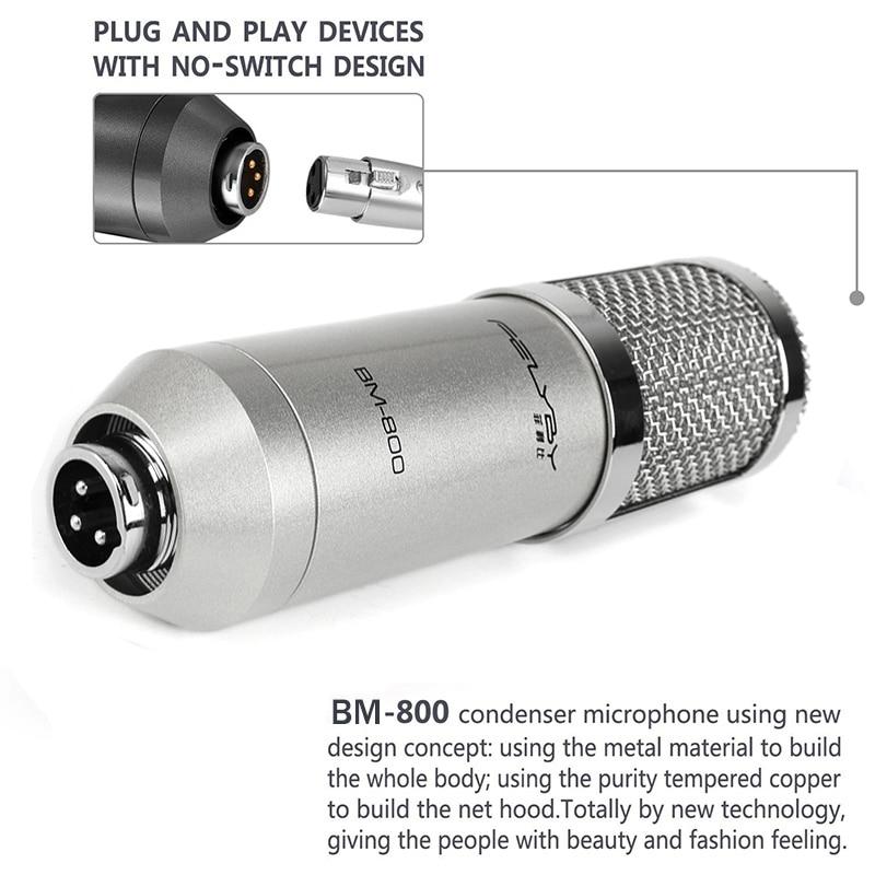 FELYBY Marque Professional bm 800 à condensateur KTV Microphone & - Audio et vidéo portable - Photo 3