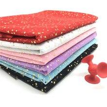 1m/lot Width 150cm Golden Star Spot Printed Glitter Tulle Fabric Spool Tutu Pom Soft Squine DIY Crafts Decoration