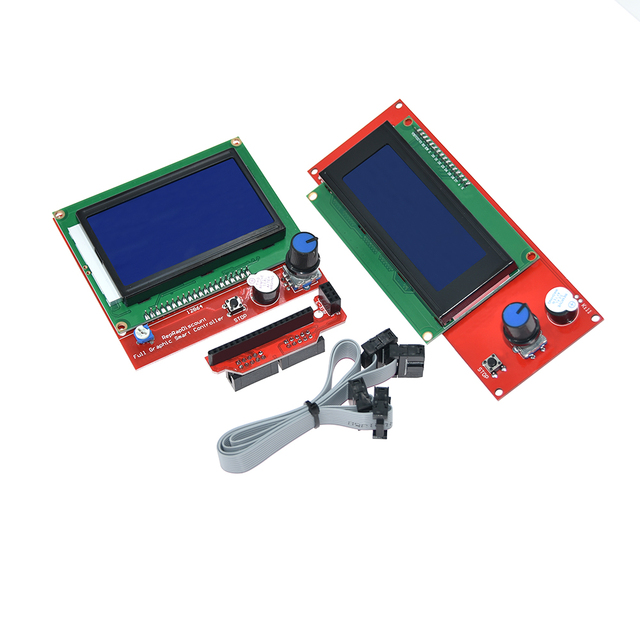 1pc RAMPS 1.4 LCD 12864 Ramps Smart Parts Controller Control Panel LCD 12864/2004 Display Monitor Motherboard Blue Screen Module