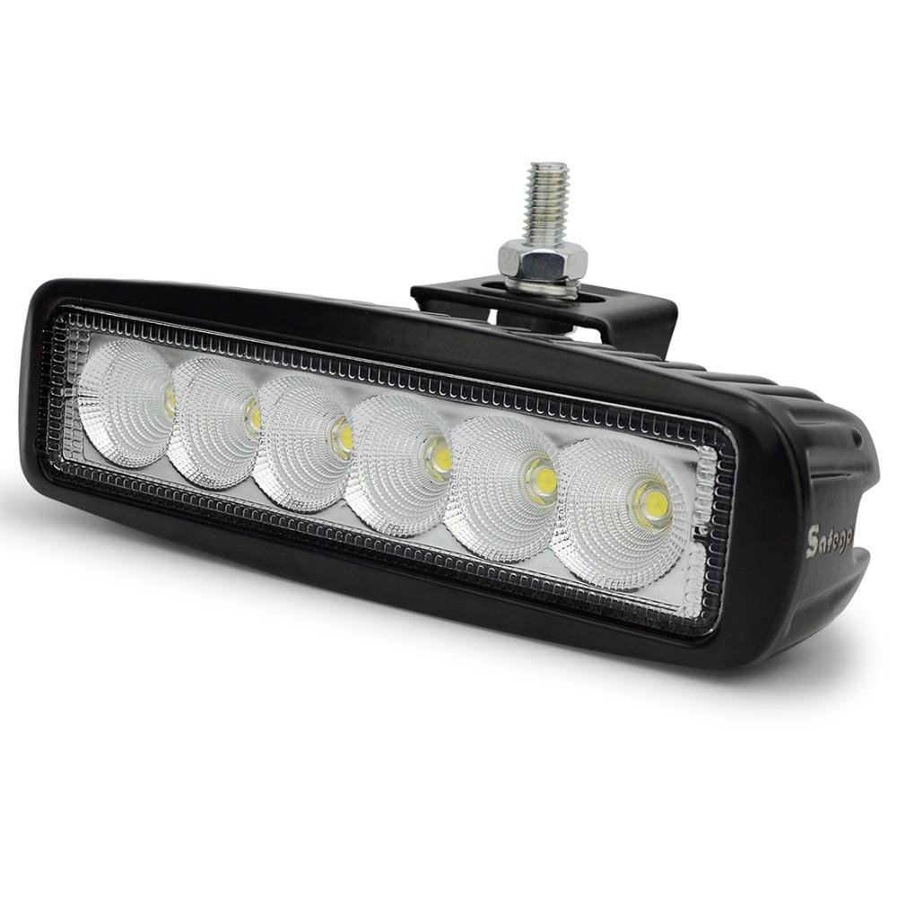 1бр 18w работна лента място офроуд 18W LED - Автомобилни светлини - Снимка 6