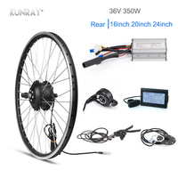 Kunray Electric Wheel 36V 350w Brushless Gear Hub Motor wheel ebike Conversion Kit KT LCD LED Display Cycle Accessories 16 20