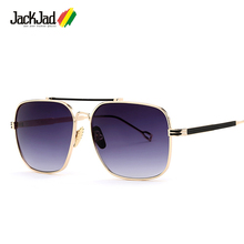 JackJad 2017 New Fashion Men Square Aviator Style Sunglasses Brand Design Quality Metal Frame Sun Glasses Oculos De Sol Lunettes