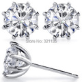 LASAMERO Vintage 8 Prong Stud Earrings 14K Gold 2CTW Lab Grown Color DEF Esdomera Moissanites Diamond Stud Earrings