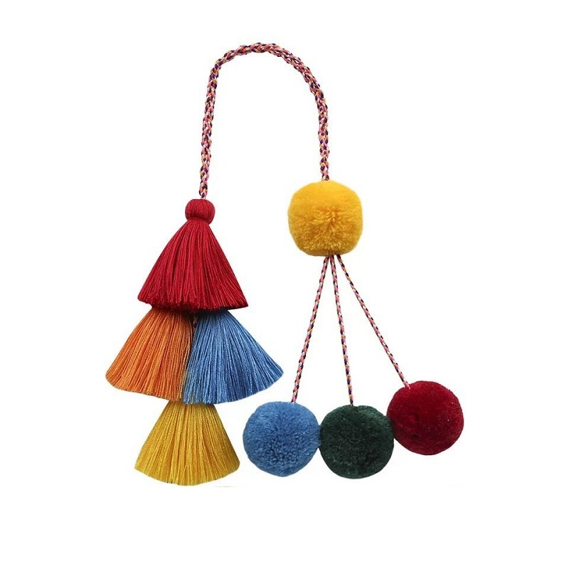 Caker Brand 2019 Women Colorful Tassel High Quality Accessory Wholesale