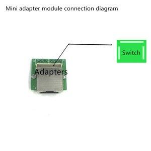 Image 2 - 青梅 3 ポートスイッチモジュール PCBA 4 ピンヘッダ UTP PCBA モジュール led ディスプレイネジ穴ポジショニングミニ PC データの Oem 工場