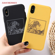 The Great Wave off Kanagawa Back Cover Soft Silicone Phone Case Fundas For iPhone 7Plus 7 6Plus 6 6S 5S 8 8Plus X XS Max cases