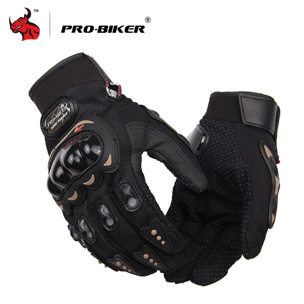 PRO-BIKER Motorcycle Gloves Men Motocross Gloves Full Finger Knight Riding Motorbike Moto Gloves Motocross Guantes Gloves M-XXL pro biker motorcycle riding gloves breathable motocross off road racing moto full finger gloves with stainlesssteel injection