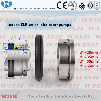 Inoxpa SLR series lobe rotor pump mechanical seal replace AES W011, Vulcan 1683 seal,wave spring seals