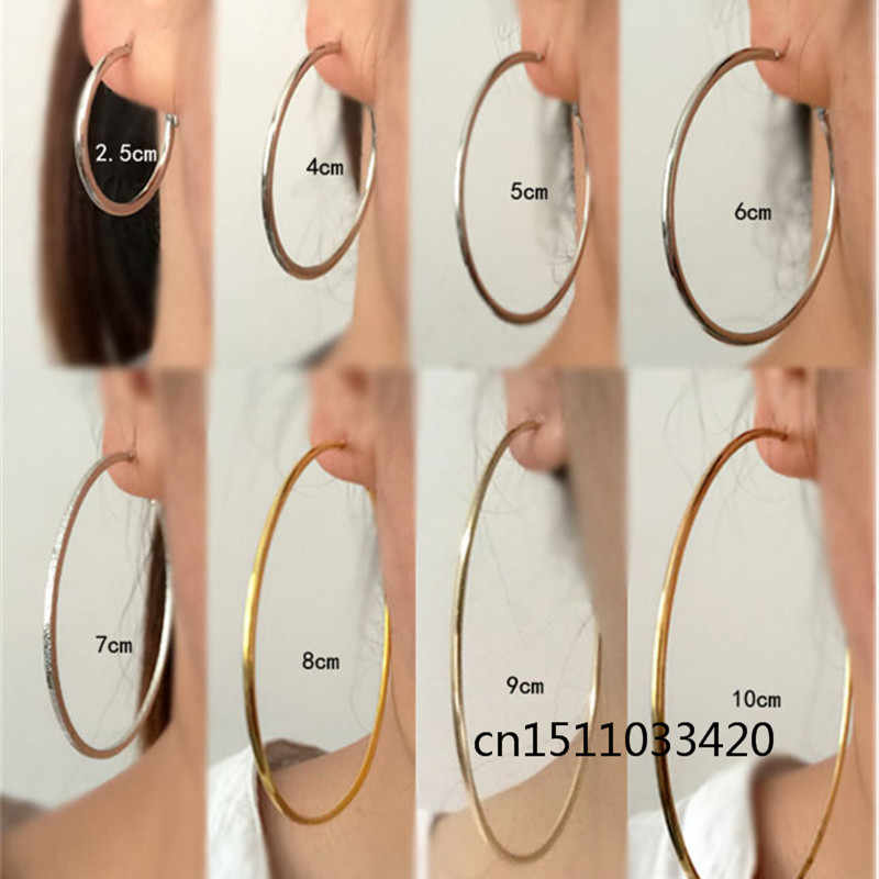 Big Small Circle Hoop Earrings for women Female Fashion brand rose gold black ring ear jewelry nightclub DJ 2019 Ladies earrings