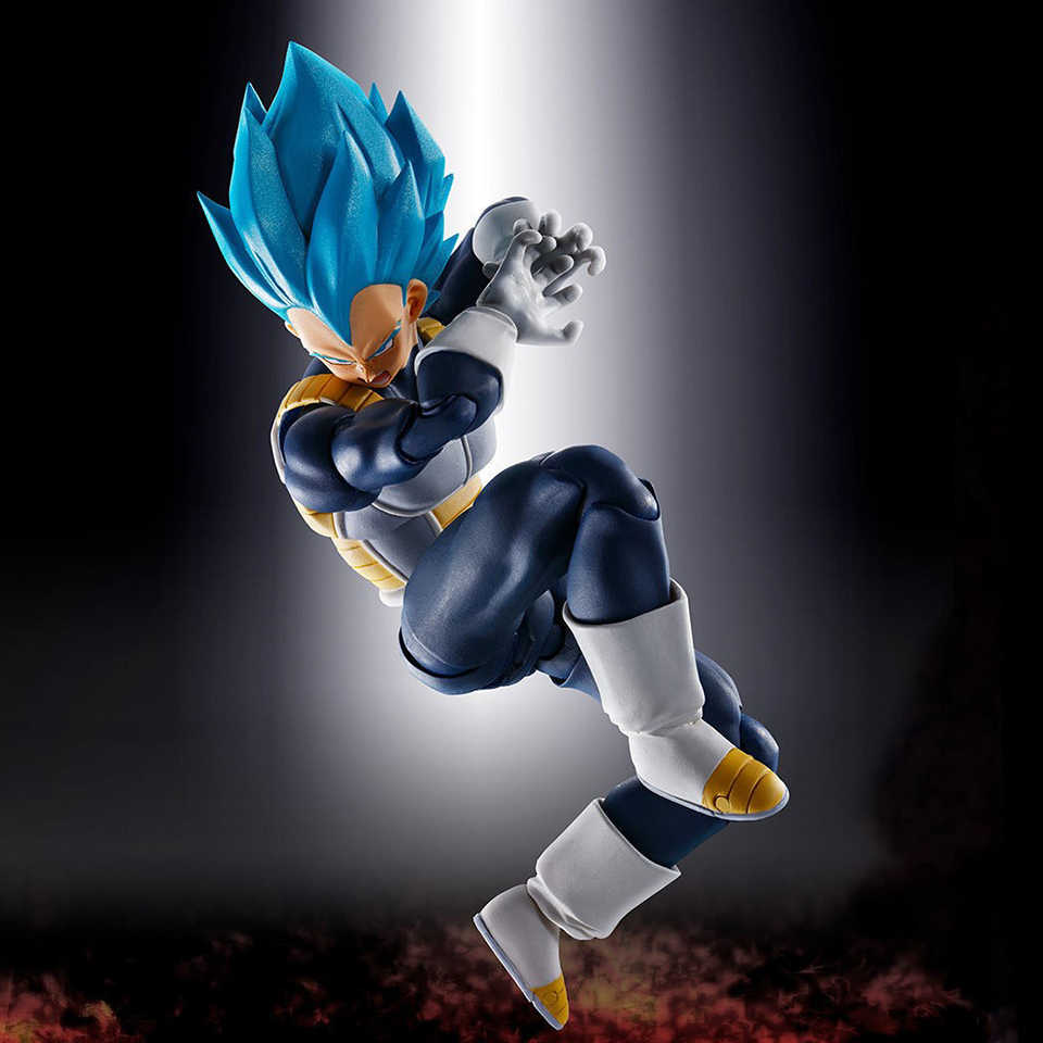 Tronzo Originele Bandai Tamashii Naties Dargon Bal Super Vegeta SHF SSJ Blauw Rood PVC Action Figure Super Saiyan God Model speelgoed