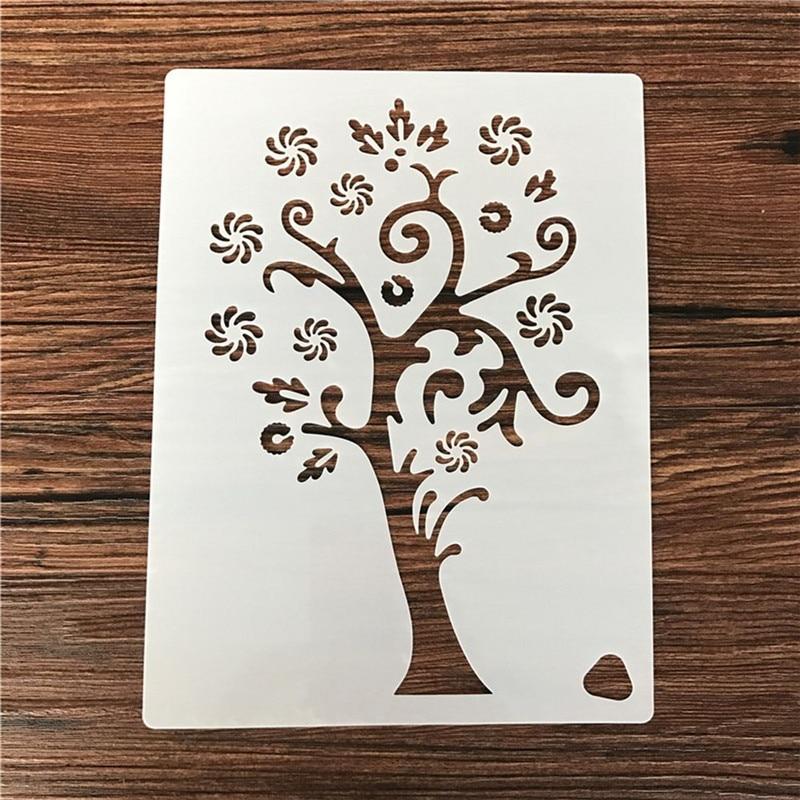 Reusable Christmas Snowflake Tree Flower Stencil Airbrush Painting Art DIY Home Decor Scrap Booking Album Crafts New