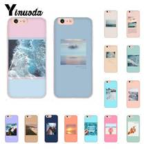 Yinuoda Great Arrt Summer beach travel  Pattern Phone Case for iPhone X XS MAX 6 6S 7 7plus 8 8Plus 5 5S XR 10 11 11pro 11promax yinuoda sweet world space art diy printing phone case for iphone x xs max 6 6s 7 7plus 8 8plus 5 5s xr 10 case 11 11pro 11promax