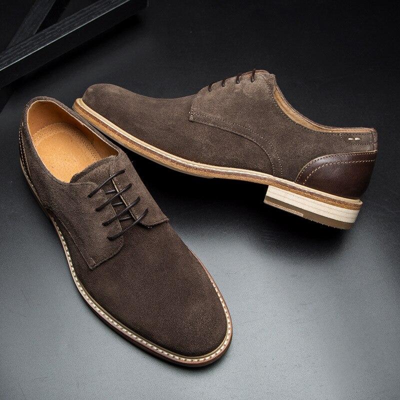 DESAI Brand Men Oxfords Genuine Suede Leather Men Casual Shoes Spring Autumn Summer Fashion Oxford Shoes for Men suede