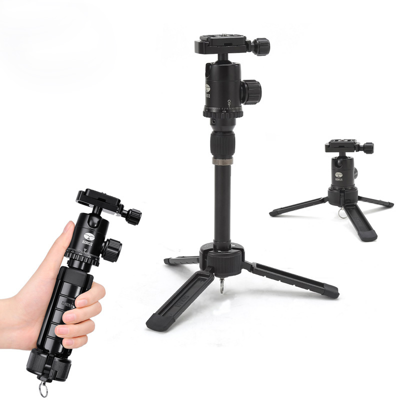 цены  Ulanzi Sirui Mini Table Top Tripod Travel Camera Stand Compact Tripod with Ball Head For DSLR Portable Video Camera Vloggers