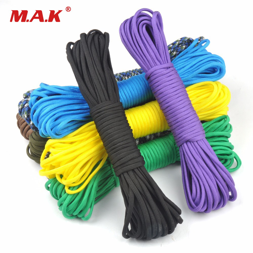 25/50/100FT Paracord 550 Paracord Parachute Cord Lanyard Rope Mil Spec Type III 7 Strand Climbing Camping Survival Equipment 8mm climbing multi purpose paracord rope cord blue 20m