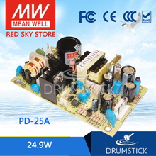 цена на [VIII] Hot! MEAN WELL original PD-25A meanwell PD-25 24.9W Dual Output Switching Power Supply