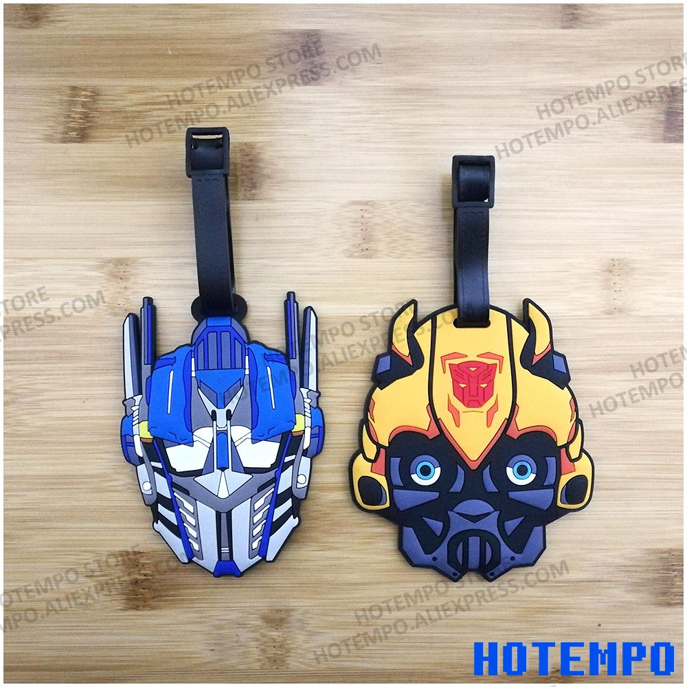 HOTEMPO Bumblebee Yellow and Blue Car Robot Action Figure Soft PVC Action Figure Luggage Pendant Toys Keychains Tag transformers маска bumblebee c1331