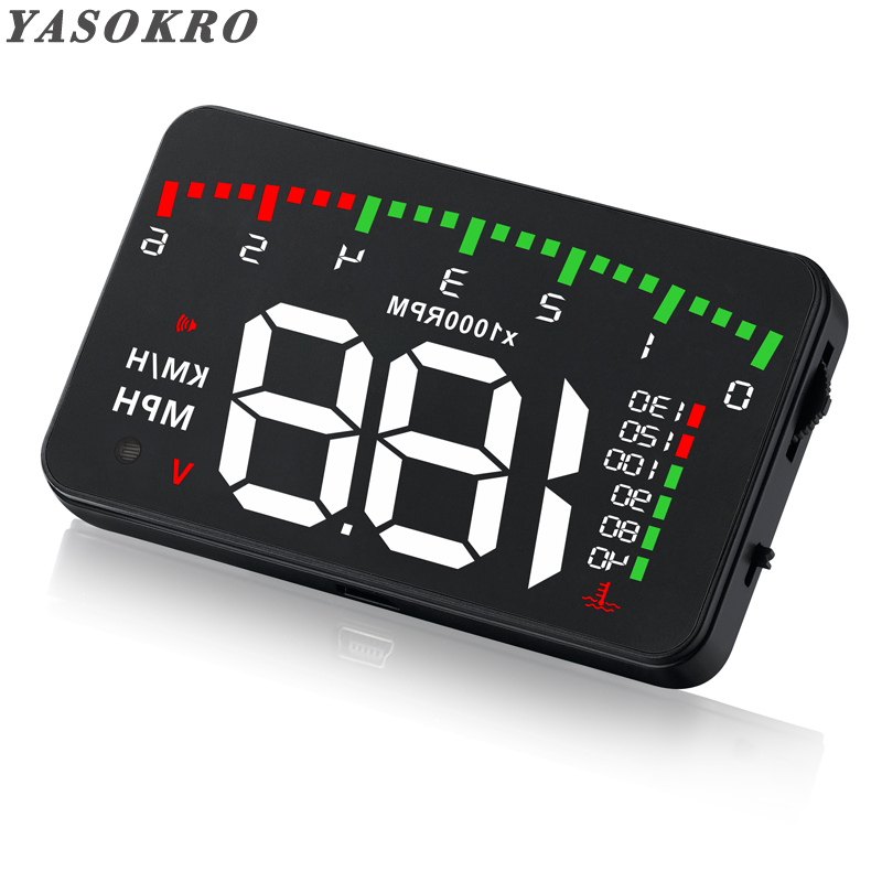 VGEBY Multi-function Car 5.5 HUD Head Up Display Speeding Fuel Warning Windshield Projector System with OBD2 and EUOBD Interface