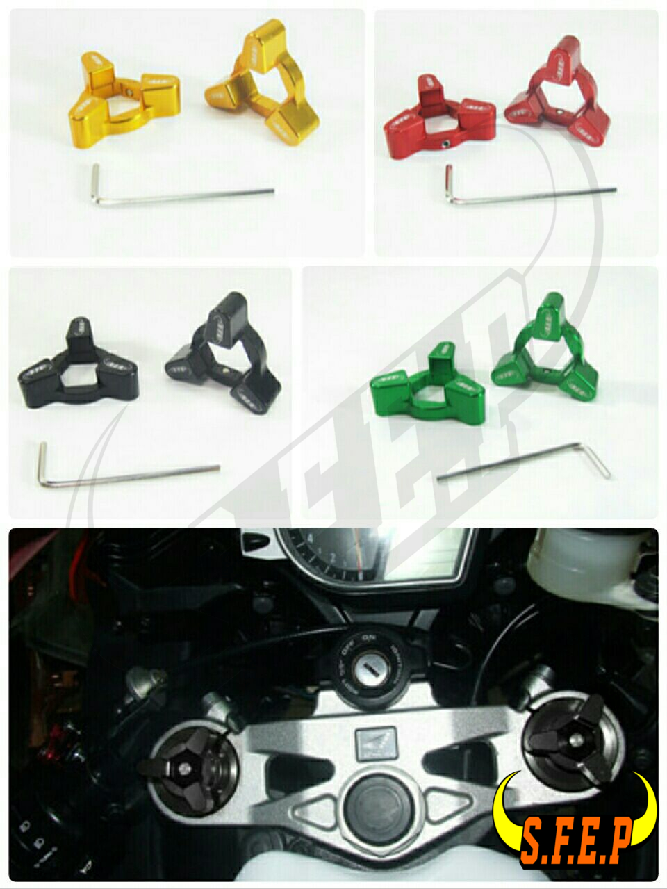 Motorcycle CNC Fork Preload Adjusters For Kawasaki GTR1400 / Concours 14 07-10/ ZX7R/RR 91-03
