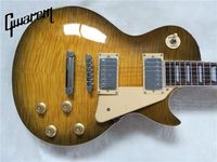 Electric GUITAR+LP standard/slash electric GUITAR+maple flame top brown burst color+GUITAR CHINA