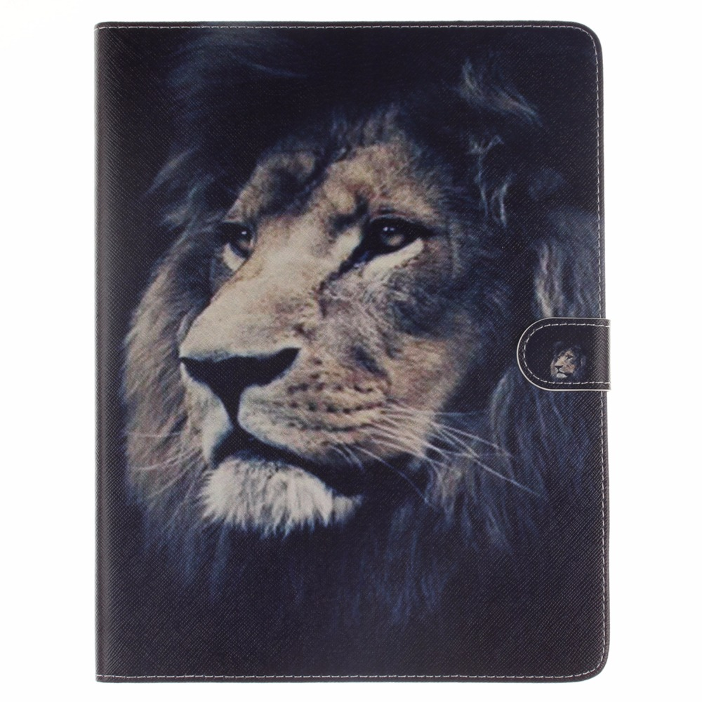 Fashion Tiger Owl Series Style Printed Stand Flip Pu Leather case for iPad 2 3 4 With Card Slots for iPad 3 iPad 4 Fundas Coque