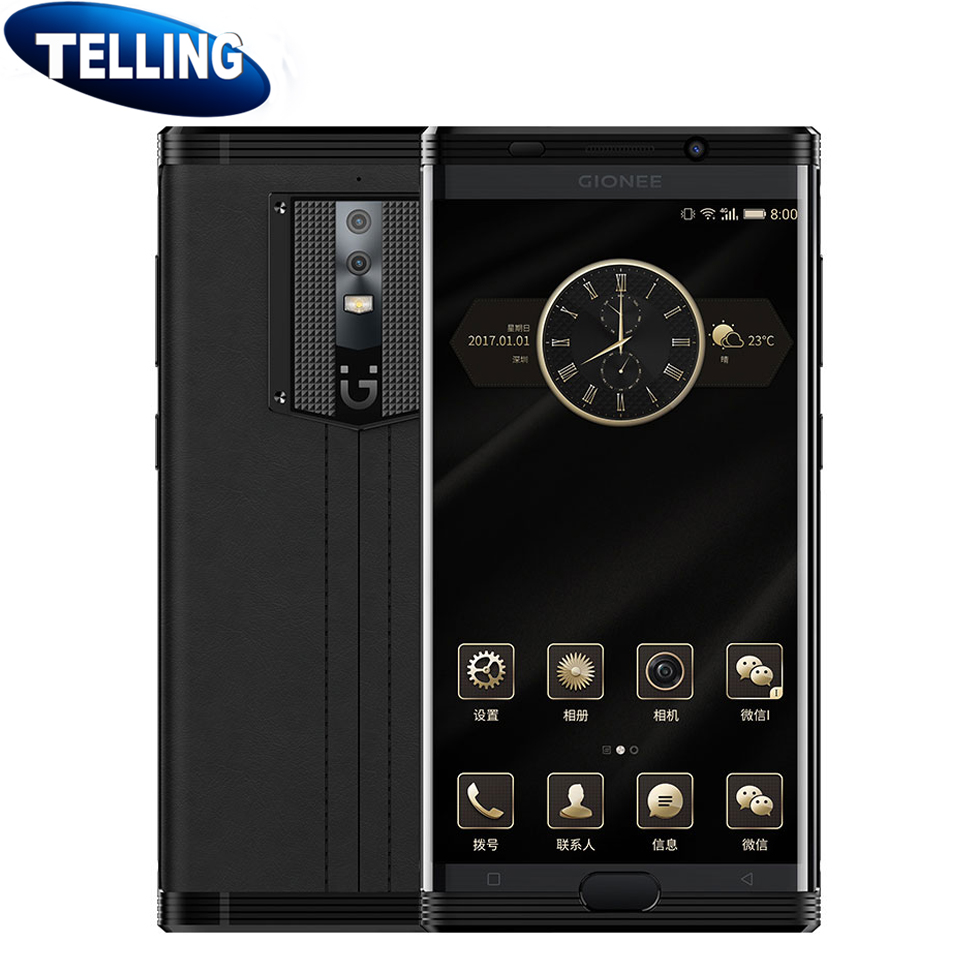 DHL Ship Business Phone Gionee M2017 Mobile Phone Android 6.0 4G LTE Snapdragon 653 Octa Core Smartphone 6G+128G 7000mAh 5.7 2K