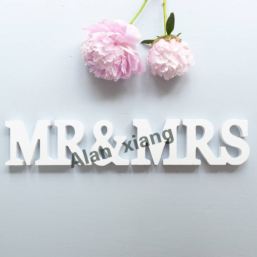 free shipping pmr and mrs stand up wooden letters wedding decoration mrmrs letterschina