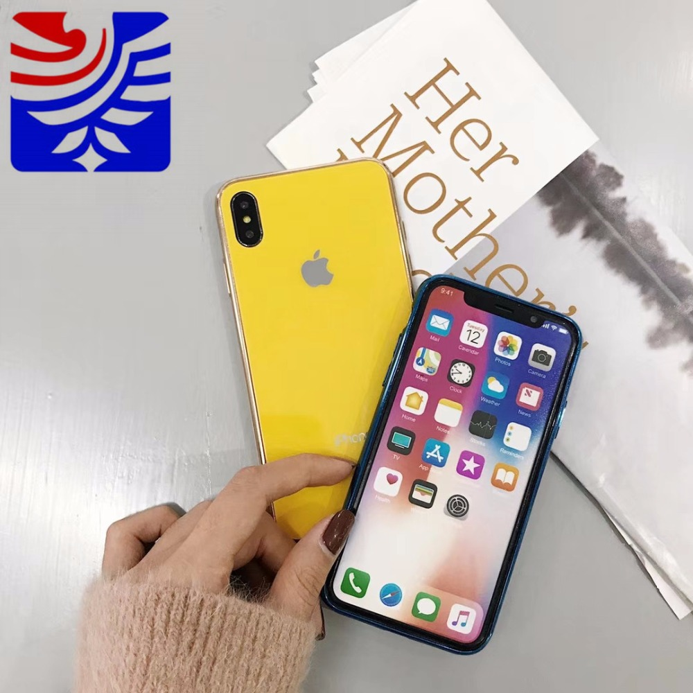 PEIPENG Luxury made of electroplated glass Anti-fall Phone Cases For iphone 6 6S 7 8 Plus X Xs Max Christmas gift Girl Simple 06