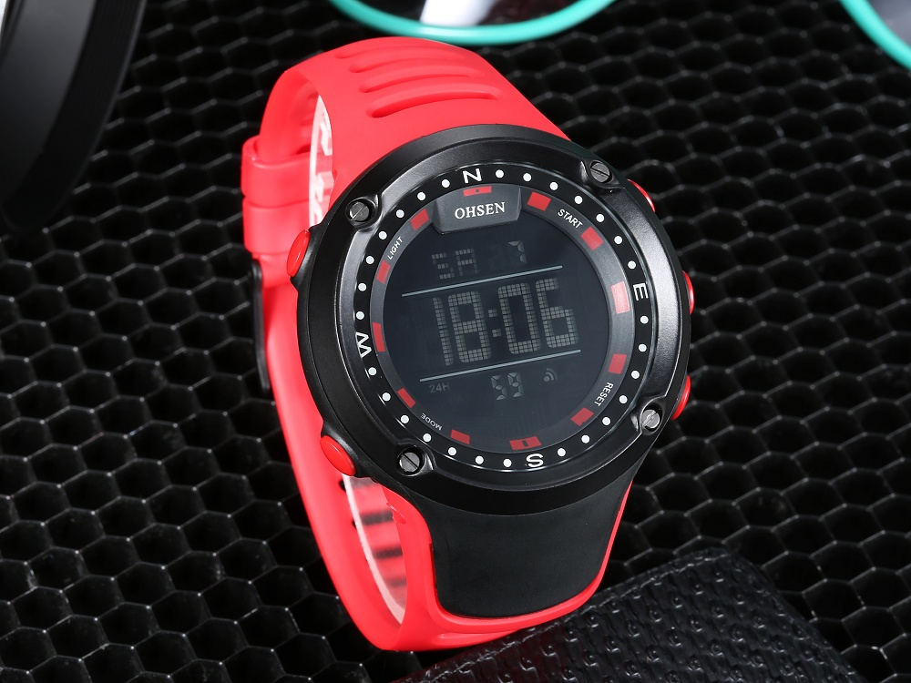 OHSEN Top LED Digital Men\`s Watch Kids Watches Women Sport Clock Child Sports Wrist Watch Electronic for Girl Boy Surprise Gift (36)