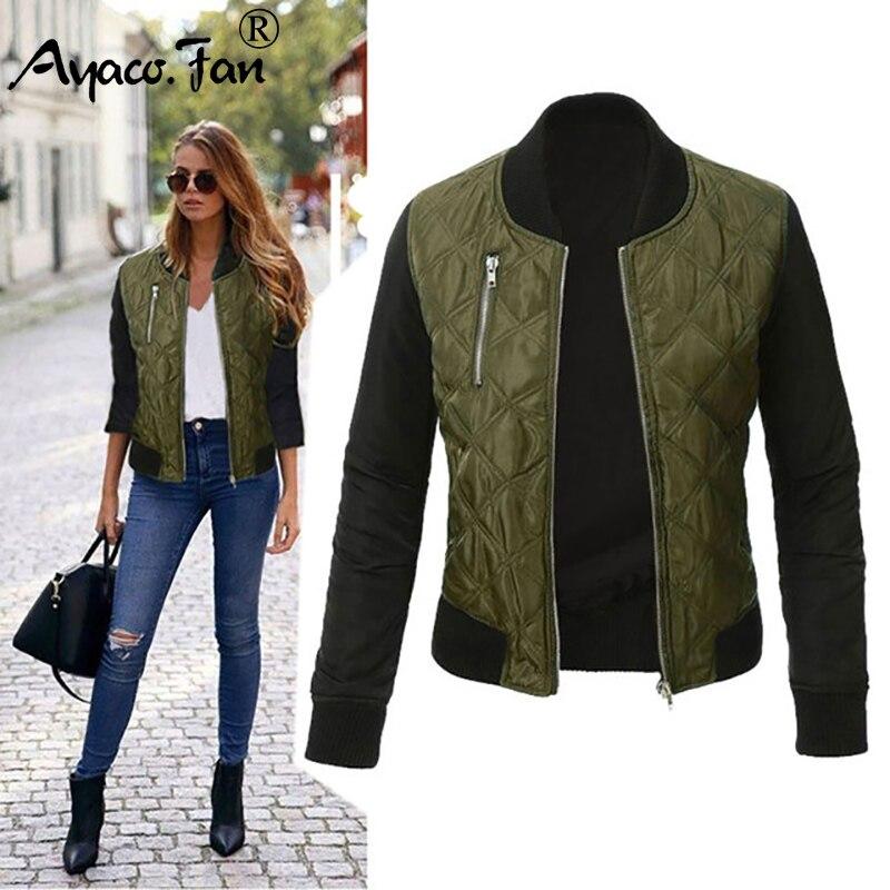 חדש 2018 סתיו חורף מעיל נשים עבה כותנה ירוק מעילי אופנה חם ארוך שרוול מעילי נשים חולצות בגדים בתוספת גודל