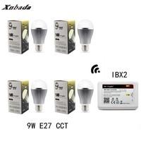 MiLight IBX2 RF Remote Wifi+ E27 9W CCT(CW/WW) Led Lamp Dimmable AC110 220V Mi Light Led bulb light Led Spotlight Free shipping