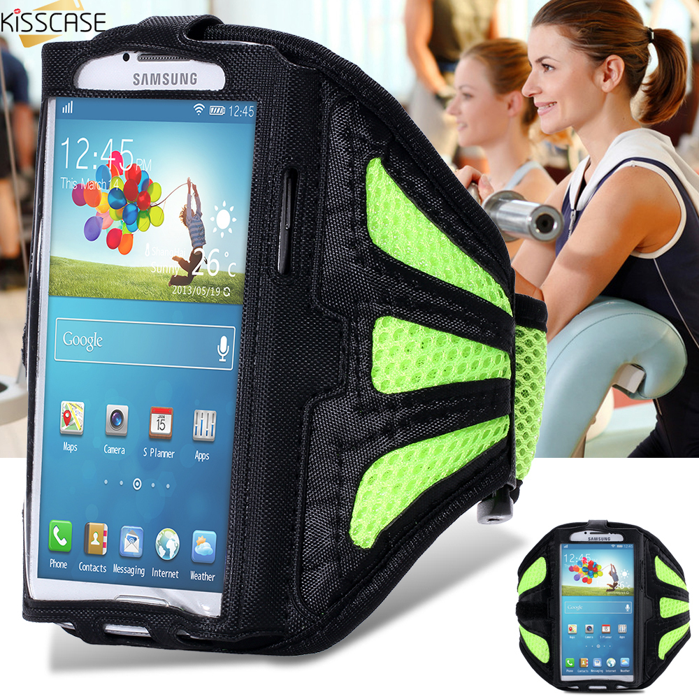 KISSCASE S3 S4 S5 S6 Waterproof Sport Arm Band Cases For Samsung Galaxy S3 S4 S5 S6 Arm Bag Running Band Gym Pounch Belt Cover