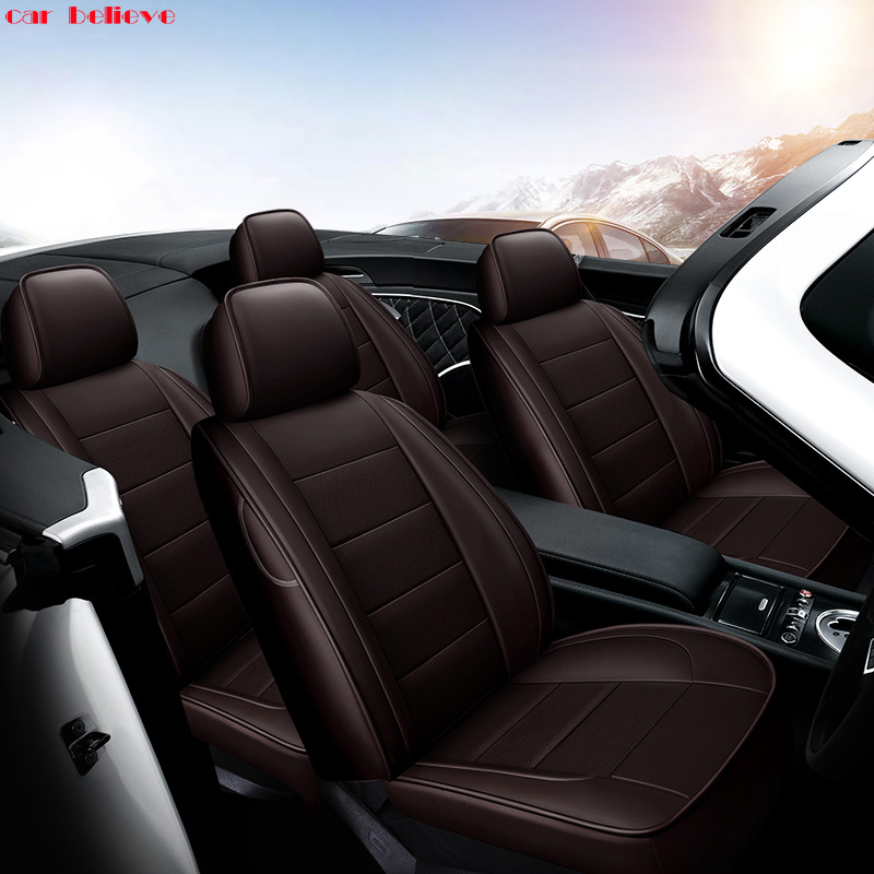 Car Believe Auto automobiles Cowhide leather car seat cover For Volvo S60L V40 V60 S60 XC60 XC90 C70 car accessories styling