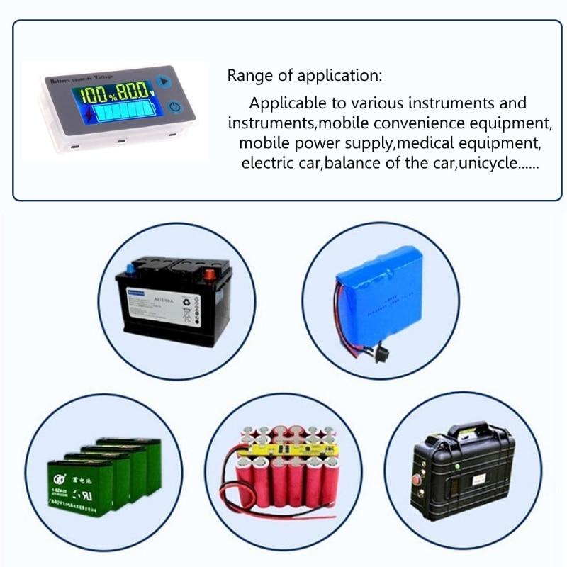 10-100 в ЖК-дисплей бытовой тестер батареи Вольтметр JS-C33 свинцово-кислотная литиевая батарея индикатор емкости Универсальный цифровой индика...