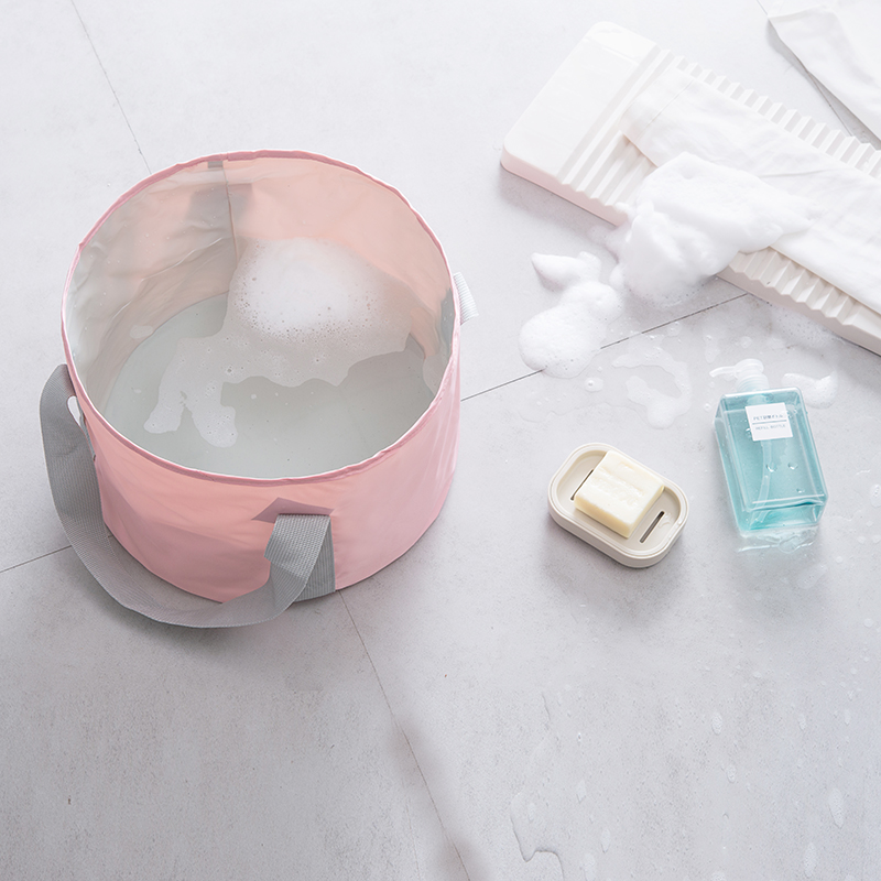 Waterproof Portable Folding Barrel Bag Travel Bag Man Women Foot Wash Basin Foot Bath Bag