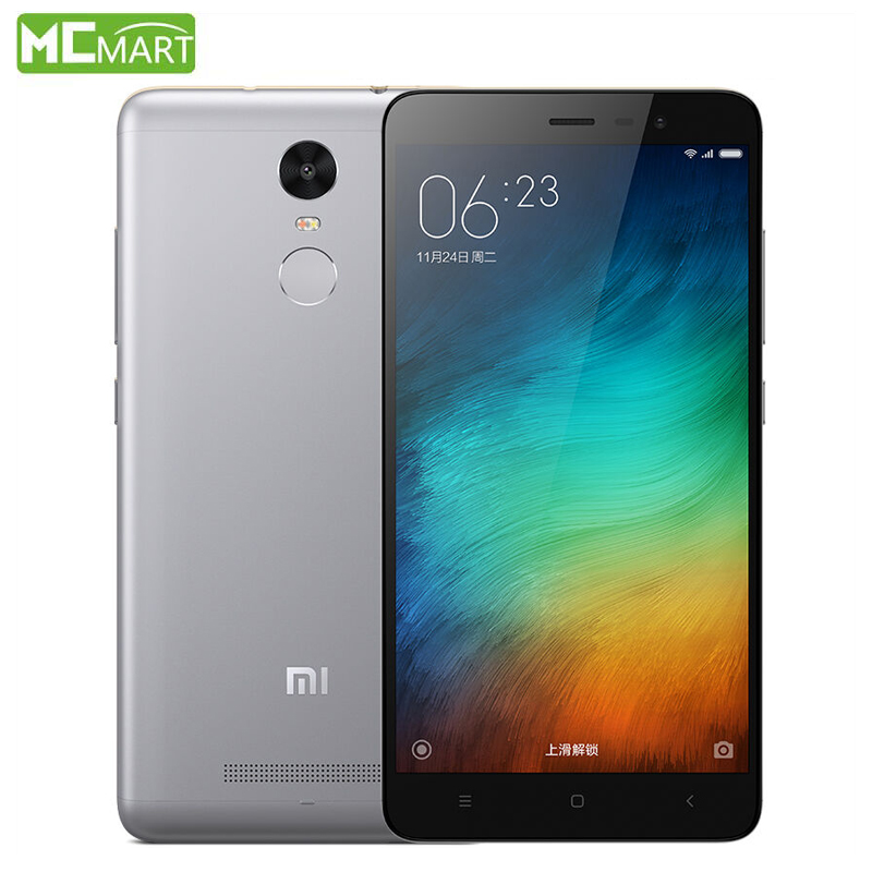 Xiaomi Redmi Note 3 Pro Prime 3GB RAM+32GB ROM Note3 5.5″ MIUI7 Snapdragon 650 4G fingerprint ID Smartphone