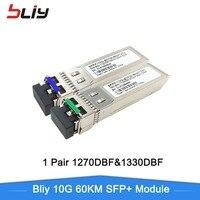 Bliy sfp 10 г 80 км sfp + gbic sfp модуль ethernet коммутатор gigabit коммутатор ethernet 1550/1310nm совместим с mikrotik/zte/cisco